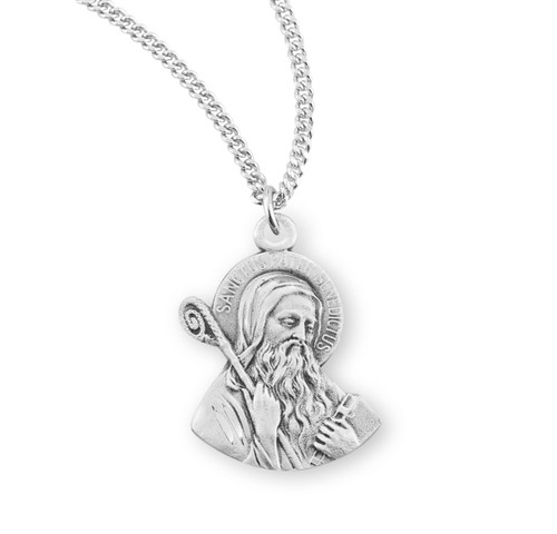 """Saint Benedict Sterling Silver Medal 