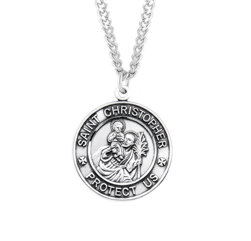 Saint Christopher Round Military Medal
