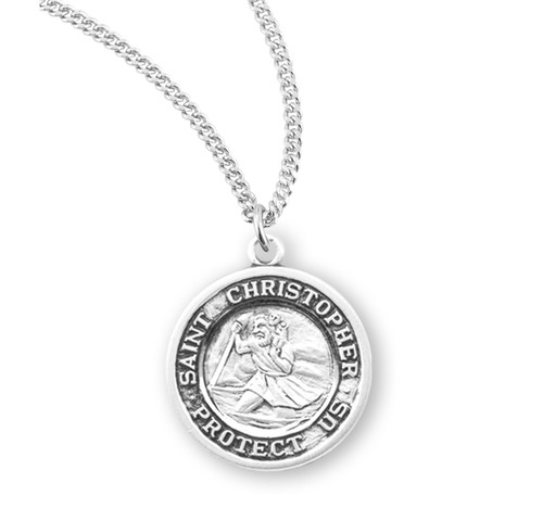 """Saint Christopher Sterling Silver Medal 