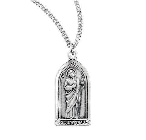 Saint Jude Thaddeus Sterling Silver Medal