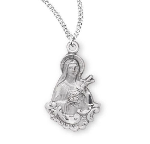 Saint Therese of Lisieux Medium Sterling Silver Medal