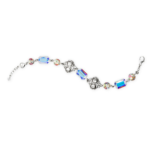 Saint Therese Sterling Silver Bracelet | 8mm Glass Beads