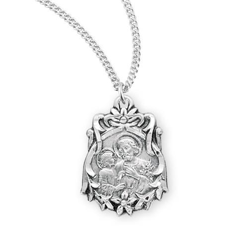 Sterling Silver Saint Joseph Medal
