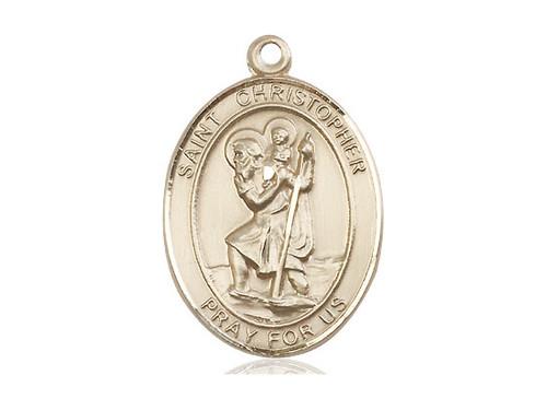 Solid 14 Karat Gold St. Christopher Medal | No Chain | Engrave