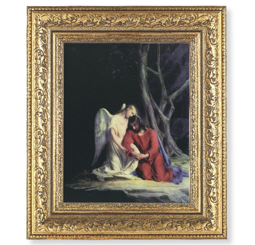 Agony in the Garden Gold-Leaf Antique Framed Art