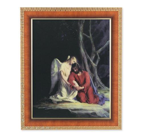 Agony in the Garden Natural Tiger Cherry Framed Art