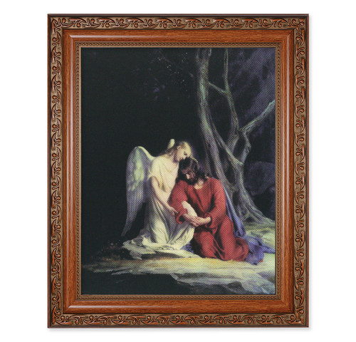 Agony in the Garden Mahogany Finished Framed Art
