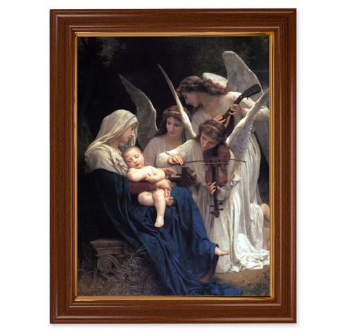Heavenly Melody Walnut Finish Framed Art