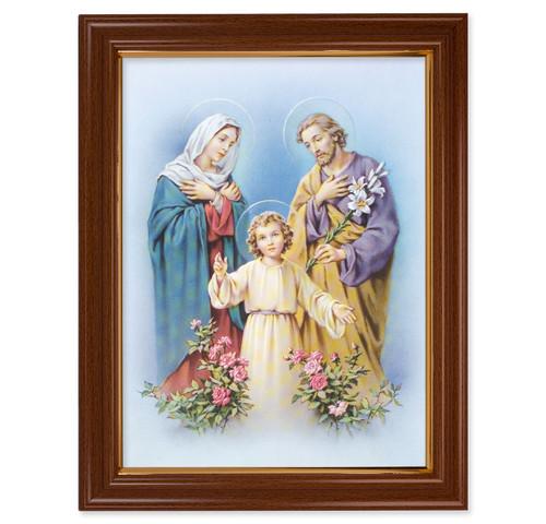 Holy Family Walnut Finish Framed Art | Style A
