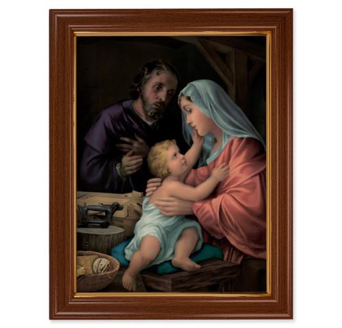 Holy Family Walnut Finish Framed Art