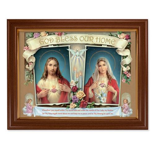 House Blessing - SHJ & IMH Walnut Finish Framed Art