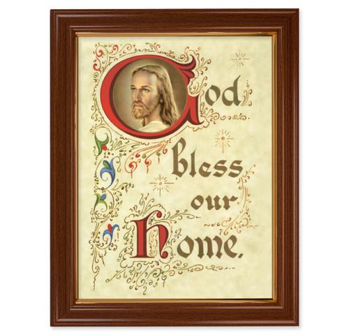 House Blessing Walnut Finish Framed Art