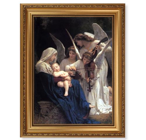 Heavenly Melody Antique Gold Framed Art