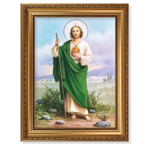 St. Jude Antique Gold Framed Art