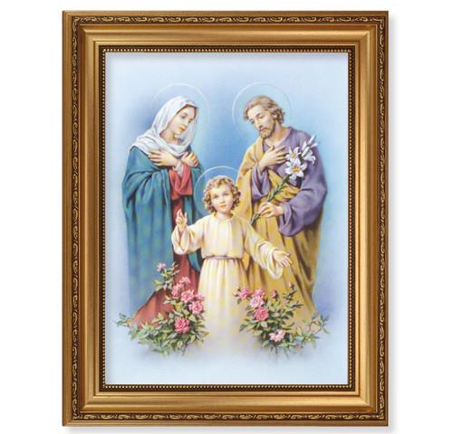 The Holy Family Antique Gold Framed Art