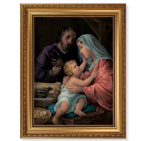 Holy Family Antique Gold Framed Art