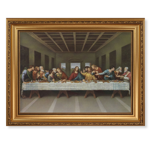 Last Supper Antique Gold Framed Art | Style A