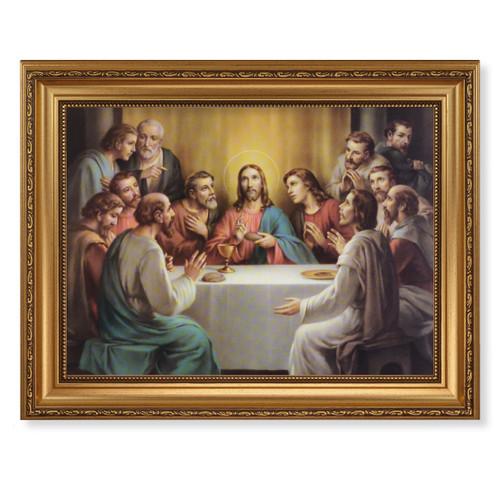 Last Supper Antique Gold Framed Art