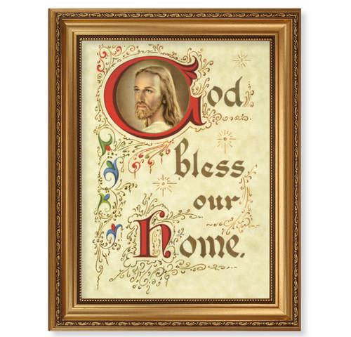 House Blessing Antique Gold Framed Art