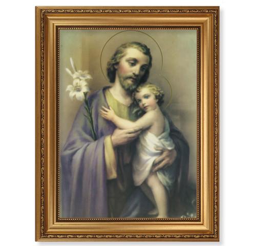 St. Joseph Antique Gold Framed Art