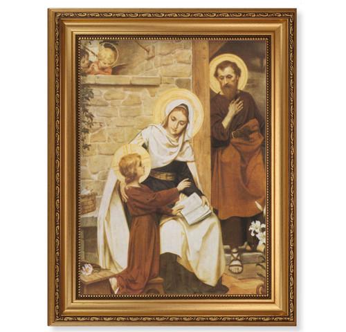 Holy Family in Nazareth Antique Gold Framed Art