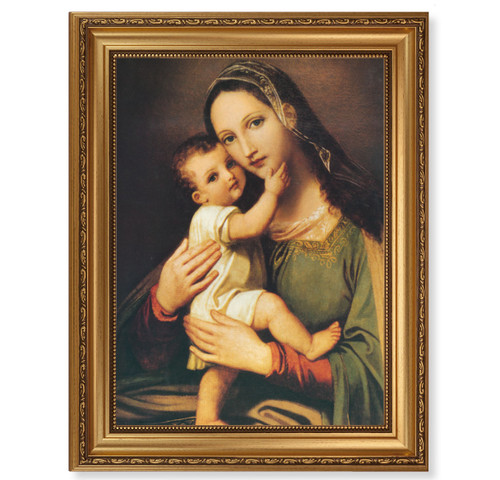 Miraculous Image of the Succouring Mary Antique Gold Framed Art