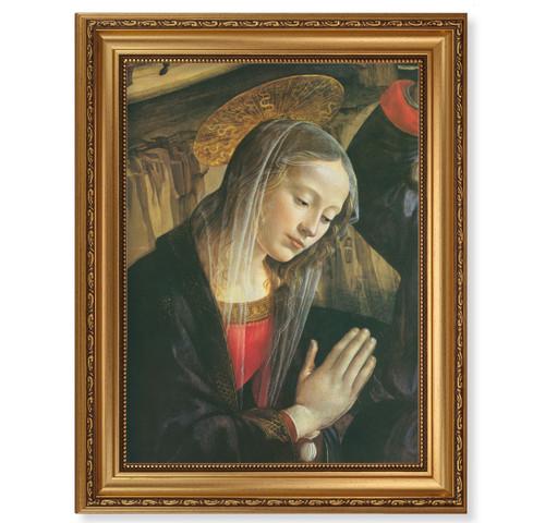 Praying Madonna Antique Gold Framed Art