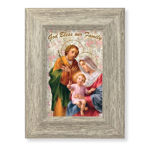 Home Family Blessing Gray Framed Art