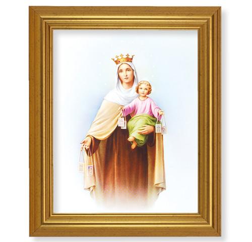 Our Lady of Mount Carmel Beveled Gold-Leaf Framed Art