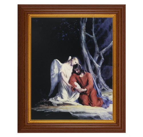 Agony in the Garden Dark Walnut Framed Art