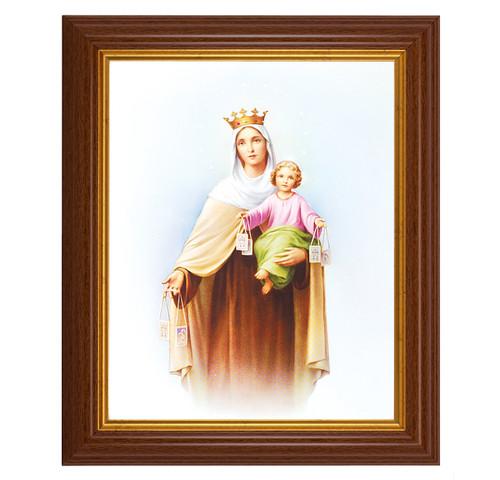 Our Lady of Mount Carmel Dark Walnut Framed Art
