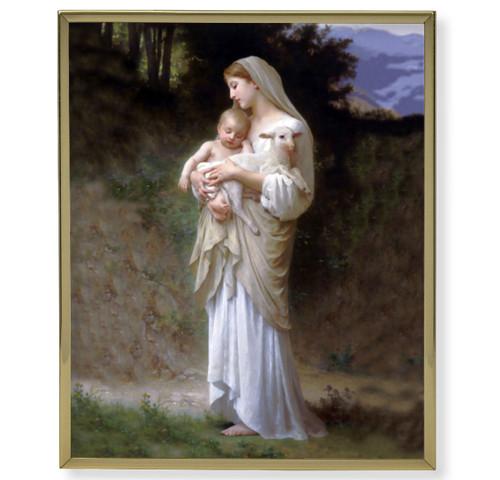 Divine Innocence Plain Gold Framed Plaque Art