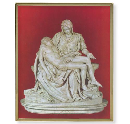 The Pieta  Plain Gold Framed Plaque Art