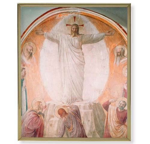 Transfiguration of Christ Plain Gold Framed Plaque Art