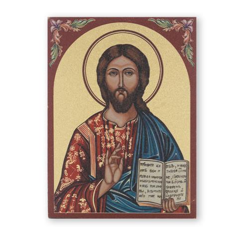 "Christ the Teacher Textured Wood Print | 3"" x 4"""