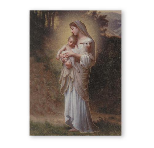 "Divine Innocence Textured Wood Print | 3"" x 4"""
