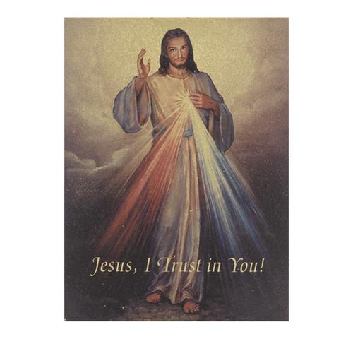 "Divine Mercy Textured Wood Print | 3"" x 4"""