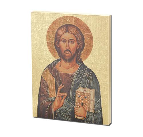 "Christ the Teacher Textured Wood Print | Style A | 7 1/2"" x 10"""