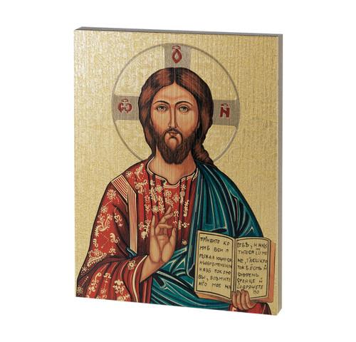 "Christ the Teacher Textured Wood Print | 7 1/2"" x 10"""