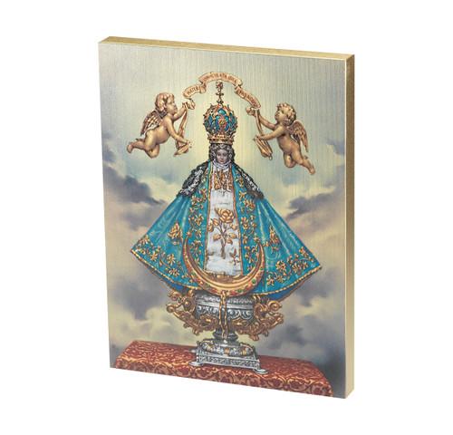 """Virgen de San Juan Textured Wood Print   7 1/2"""" x 10"""""""