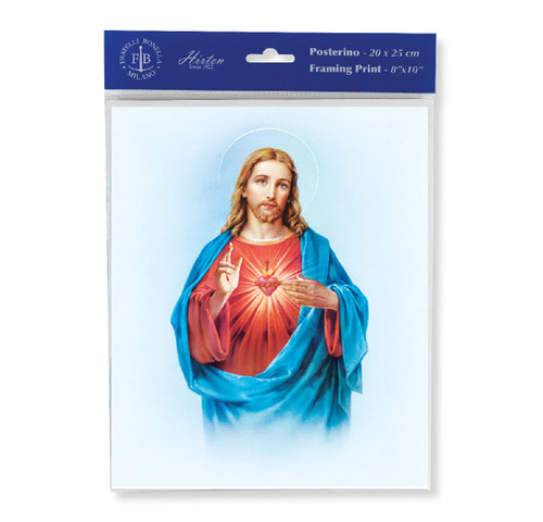 Sacred Heart of Jesus Print | Style A | Set of 3