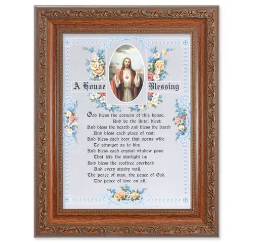 A House Blessing - SHJ-IHM Antique Mahogany Finish Framed Art
