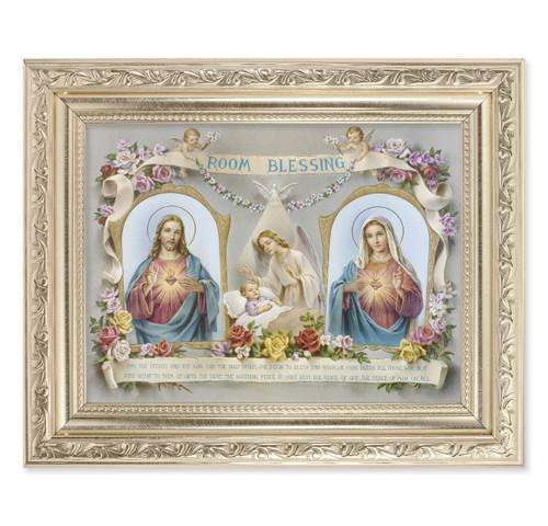 Baby Room Blessing - SHJ-IHM Ornate Silver Framed Art