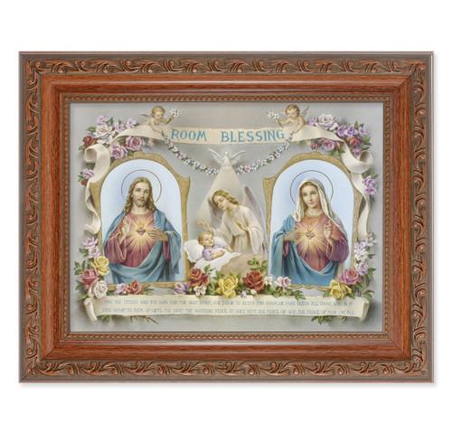 Baby Room Blessing SHJ-IHM Antique Mahogany Finish Framed Art
