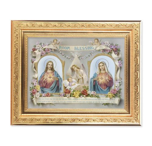 Baby Room Blessing SHJ-IHM Ornate Antique Gold Framed Art