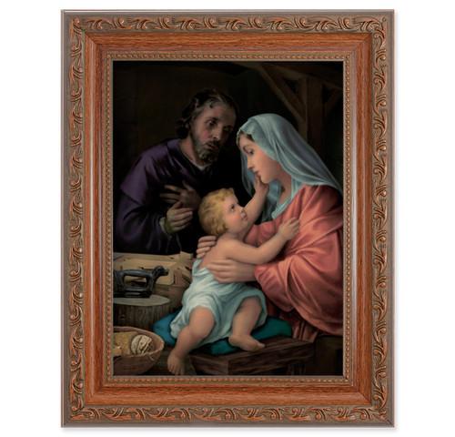 The Holy Family Antique Mahogany Finish Framed Art