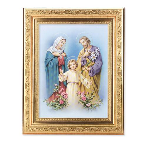 The Holy Family Help Ornate Antique Gold Framed Art