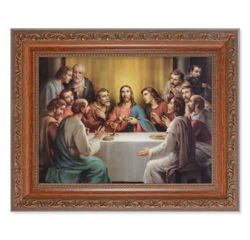 The Last Supper Antique Mahogany Finish Framed Art