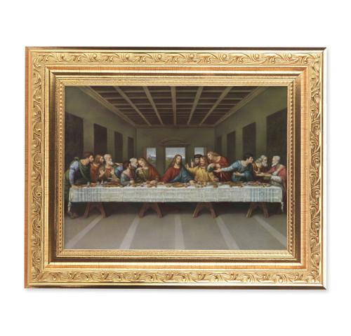The Last Supper Ornate Antique Gold Framed Art