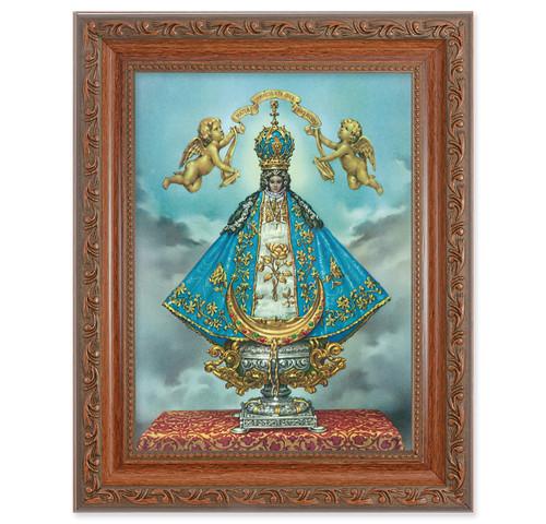 Virgen de San Juan Antique Mahogany Finish Framed Art